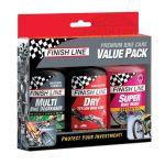 Kit Finish Line Premium Bike Care Value Pack - 3 Modelos